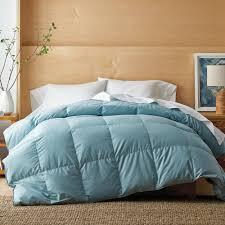 white bay light warmth cloud blue queen down comforter