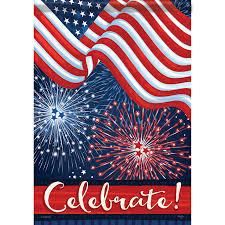 Mini Flag And Fireworks Banner Flag Yankee Doodle Flag