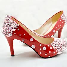 free shipping new red pearl wedding bridal shoes nice bowtie girl Wedding Shoes For Girl free shipping new red pearl wedding bridal shoes nice bowtie girl dress shoes party prom wedding anniversary party shoes in women's pumps from shoes on wedding shoes for girls size 4
