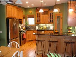 Concept Kitchen Wall Colors With Oak Cabinets The Look Great Asparagus Walls Design