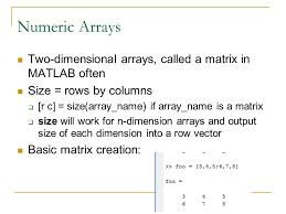 size of matrix matlab matlab ppt video online download