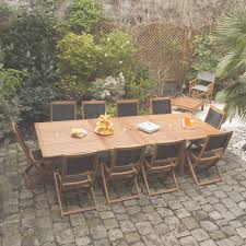 Beautiful Table De Jardin Bois Noir Contemporary Amazing House