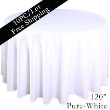 120 inch round white tablecloth white whole