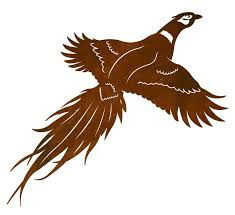 30 flying pheasant bird metal wall art