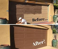 painting garage doorCleaning and Restoring Oxidized Paint on a Garage Door