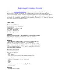 Vmware Resume Examples Linux System Administrator Resume Sample Entry Level For Examples 32