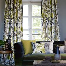 Wallpaper Living Room Designs Amazing Floral Curtains And Pillows And Check Out That Sofa