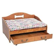wooden dog bed wood dog beds us favorite 2 tier ventilated base vintage wooden pet wood