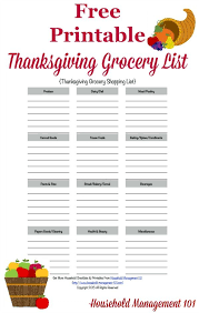 grocery checklist template printable thanksgiving grocery list shopping list thanksgiving