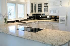 granite kitchen countertop white cabinets white fort wayne mkd kitchens in