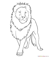 easy lion drawings in pencil. Brilliant Drawings How To Draw A Cartoon Lion Step By Step Drawing Tutorials For Kids And  Beginners To Easy Lion Drawings In Pencil K
