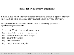 Bank Teller Job Interview Questions Bank Teller Interview Questions