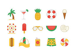 Summer Icons Summer Icons By Jeremy Booth On Dribbble