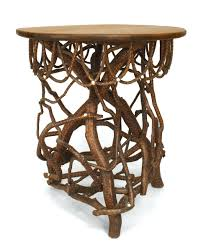 adirondack end table turn of the century twig end table in good condition for in