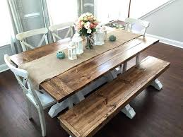 white dining table with bench farmhouse table bench dream home hours farmhouse table and restoration hardware