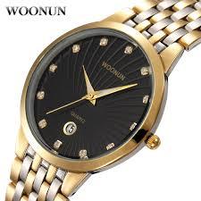 online buy whole diamond watches for men from diamond woonun men s watch famous brand luxury full steel quartz diamond watches for men gold watches men