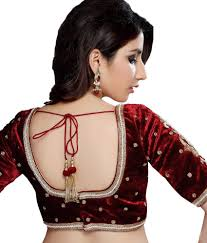 Designer Blouse Online Shopping With Price Samyakk Maroon Designer Velvet Blouse Buy Samyakk Maroon