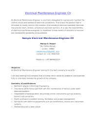 Electrical Maintenance Resume Sample Free Resume Example And