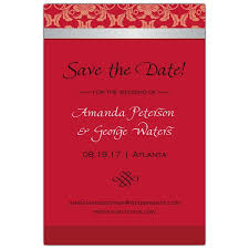 Red Save The Date Cards Fleur Red Save The Date Cards