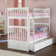 White Classic Arch Slatted Bunk Bed ...
