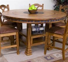 round dining table with lazy susan. Sedona Adjustable Height Round Table W/ Lazy Susan By Sunny Designs Dining With N