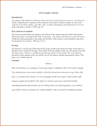 Abstract Format For Research Paper Samples What Is Apa Style