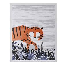 Small Picture Adairs Kids Designer Wall Art Tip Toe Tiger Home Gifts Wall