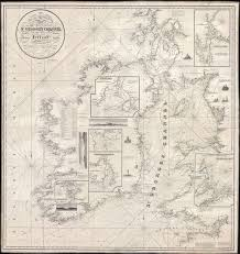 Details About 1834 Blachford Nautical Chart Or Maritime Map Of St Georges Channel