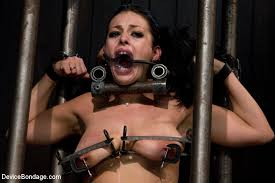 Big tits steel bondage