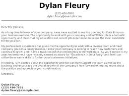 Data Entry Examples Data Entry Cover Letter Examples Samples Templates