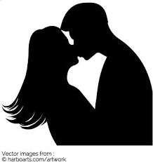 Huge Collection Of Silhouette Couple Kissing Download More Than