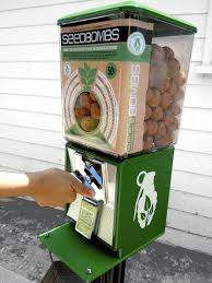 Drive Thru Vending Machine Delectable Seedbomb Vending Machines The Latest In Urban Guerrilla Gardening
