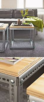 coffee table designs diy. 4. METALLIC PROFILES AND A NICE PIECE OF WOOD IS ALL THAT REQUIRED Coffee Table Designs Diy