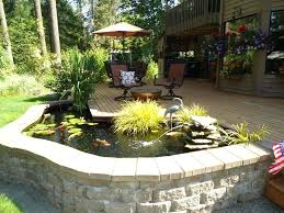 above ground pond homemade waterfall raised fish designs make your garden more cozy with for decoration