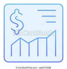 Growth Chart Design Dollar Growth Chart Flat Icon Graph Blue Icons In Trendy Flat Style Money Rate Gradient Style Design Designed For Web And App Eps 10