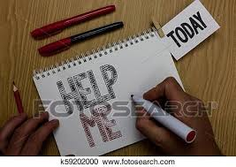 Conceptual Hand Writing Showing Help Me Business Photo Showcasing Asking Someone To Assist You Shouting For It Teamwork Volunteer Man Holding Marker