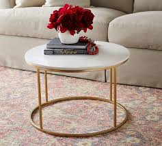delaney marble round coffee table pottery barn