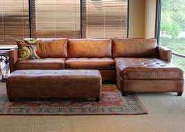 leather sofa with chaise. Brilliant Leather Amazoncom Phoenix 100 Full Aniline Leather Sectional Sofa With Chaise  Vintage Amaretto Home U0026 Kitchen Throughout With N