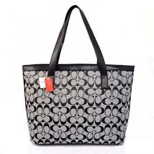 Coach Logo Monogram Medium Grey Totes BJT