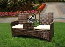garden patio bench 2 seat rattan garden furniture patio bench bench garden furniture garden treasures 36 in l steel iron patio bench