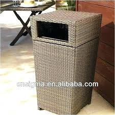 outdoor wicker garbage can decorative trash cans patio inspirational baskets waste basket with plastic liner garbag