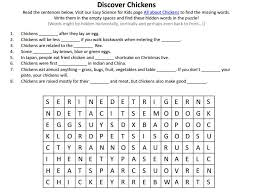 Chickens – Free Fun Science Worksheets to Download Picture! - Easy ...