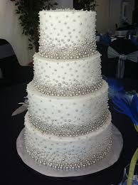 Silver Balls For Cake Decorating Delectable Thousands Of Little Silver Dragees Adorned This Wedding Cake My