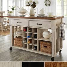 island with wine rack. Contemporary Rack Eleanor TwoTone Rolling Kitchen Island With Wine Rack By INSPIRE Q Classic For With N