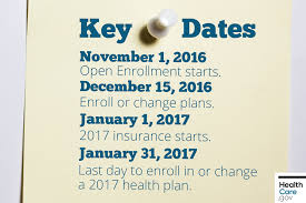 image pinned note with key health insurance deadlines and dates to remember
