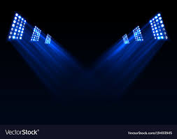 blue stage lights background vector image t44 lights