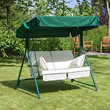 garden swing seat cushions uk. mosca 2 seater garden swing seat - green frame with luxury cushions in a choice of colours (cream): amazon.co.uk: \u0026 outdoors uk