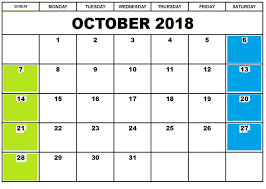 Calendar Doc October 2018 Calendar Doc