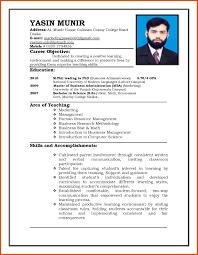 Job Resume Form Moa Format