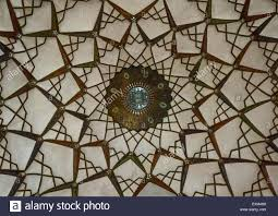 Historical Patterns Amazing Ceiling With Its Intricate And Elaborate Patterns In Tabatabaei